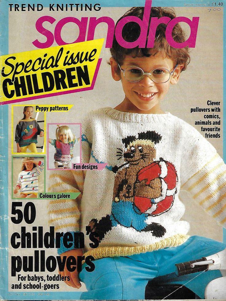 Sandra knitting magazine CHILDREN Special # 4 picture knits fairisle sweater #Sandra
