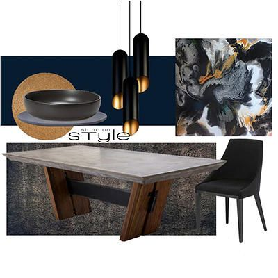 """""""Moody Midnight"""" Go to www.situationstyle.com.au for product details and suppliers"""