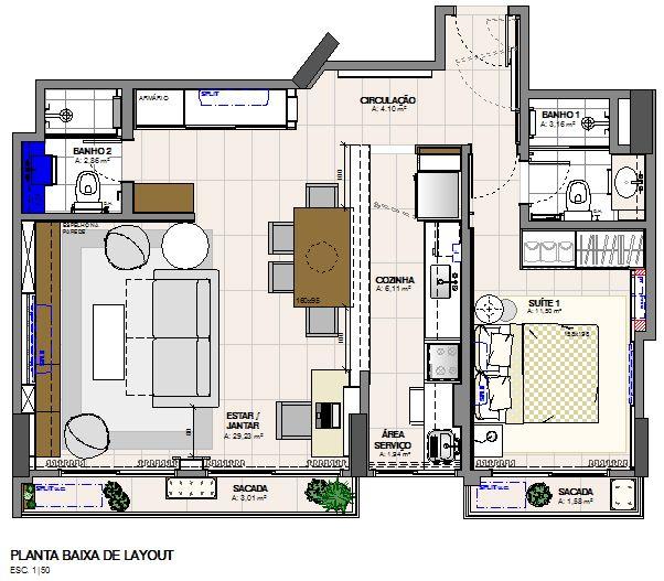 Planta Baixa | Floor Plan | By Paula Blaya
