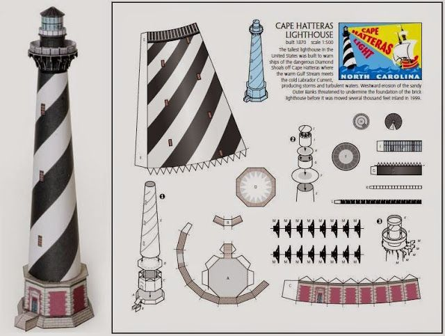614 best images about cool cutouts collectables and for 3d paper lighthouse template