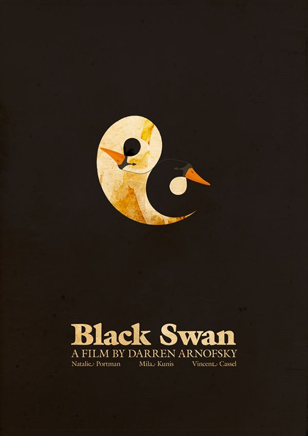Black Swan (2010) ~ Minimal Movie Poster by Ahmed Youness #amusementphile