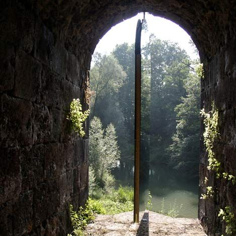 What appears to be an open tunnel beneath a bridge in northern Spain is in fact a concealed passageway, screened behind a secret mirror.