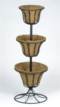 Metalen bloementoren 3-delig  Flower pot tower  http://www.tuinadvies.be/shop/product.php?id=994
