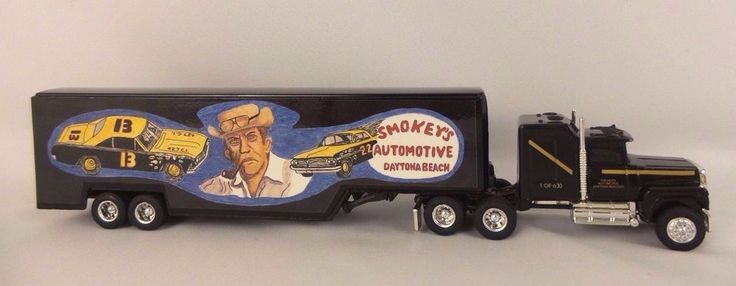 Ertl 1/64 Truck Ford LTL-9000 W/ Sleeper Die Cast Tractor Trailer Smokeys Auto  #ERTL