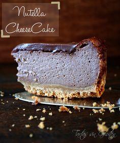 Tartas sin Gluten .....365 dias sin gluten: Nutella CheeseCake ... Tarta de Queso y Nutella