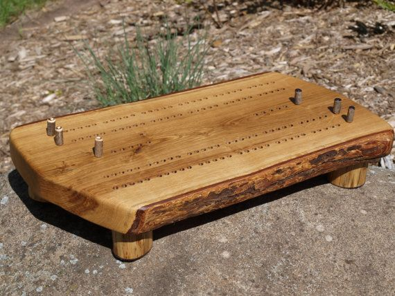 Cribbage Board Handmade Bur Oak Cribbage Board  by JLVWoodDesigns