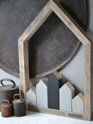 Leuke houten huisje die je makkelijk ook zelf kunt maken