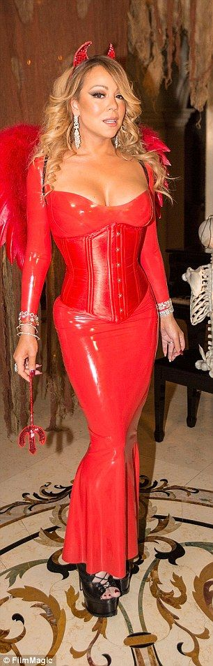 MARIAH CAREY Sexy Devil Halloween 2016 (please follow minkshmink on pinterest) #halloween