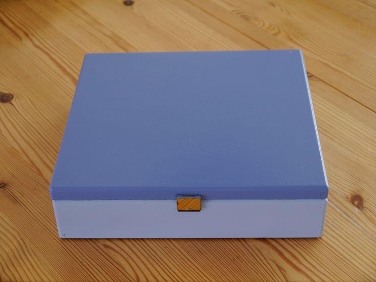Theedoos 2 kleuren blauw