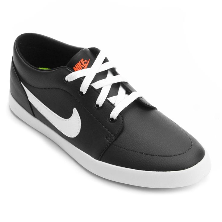 Tênis Nike Futslide SL Preto e Branco   Netshoes