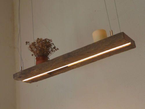 LED Lampe Hngeleuchte Holz Antik Balken Deckenlampe Holzlampe Leuchte