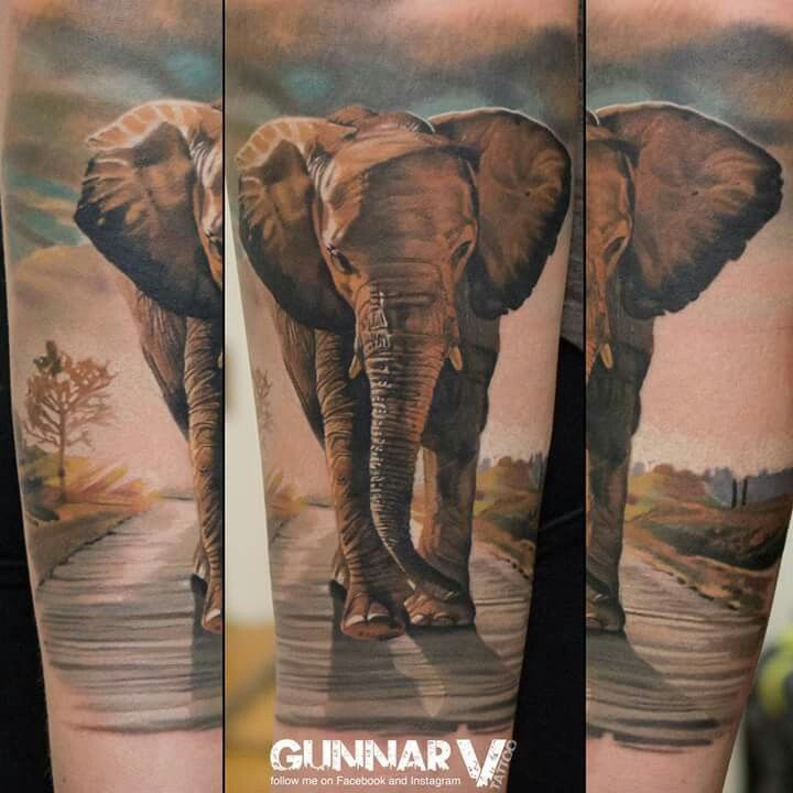 1000 ideas about realistic elephant tattoo on pinterest for Art of gunnar tattoo