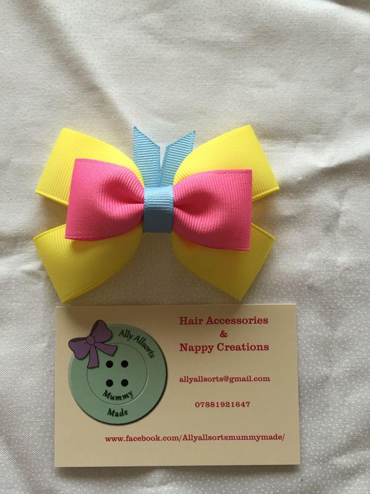 Fluttershy inspired hair bow designed by me