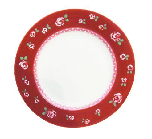 Cake plate roosjes - Froukjes Servies - www.lotsofballoons.com