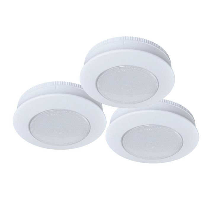 Ecolight 3 Pack 3 In Battery Under Cabinet LED Puck Lights