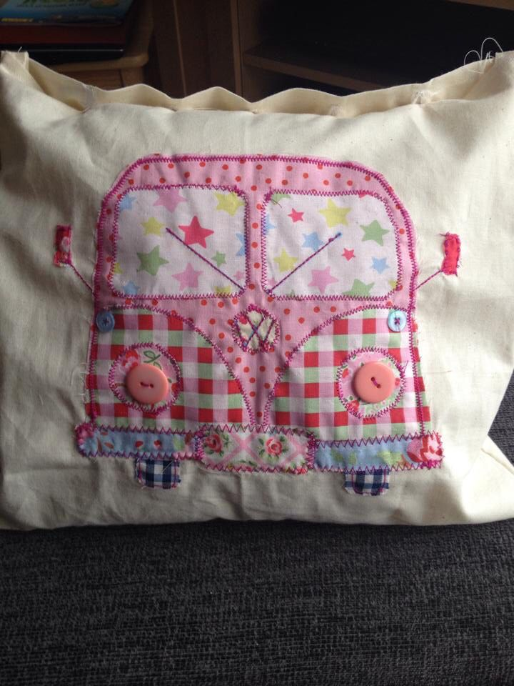 VW camper van. Not very tidy as was getting used to a new machine.