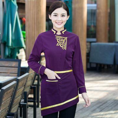 2016 Ресторан официантка униформа женщины мужчины китайский ресторан униформа униформа персонала отеля новый дизайн отель униформа купить на AliExpress