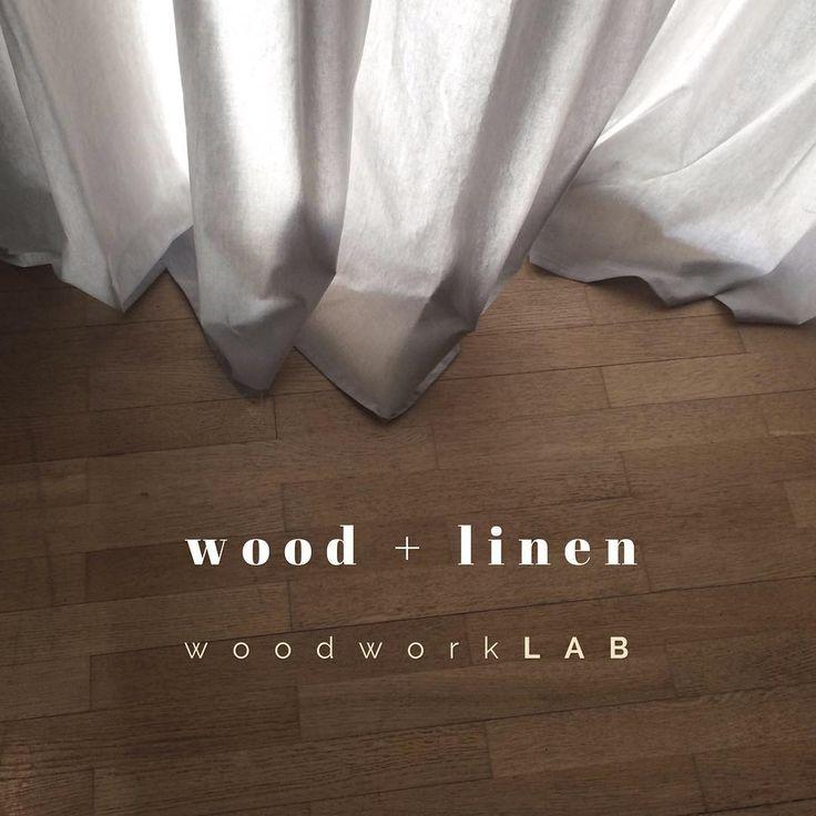 woodworkLAB. Wood + linen at Retouche Nails Studio #woodworklab #interiordesign #project #wood #linen #cotton #greekfabrics