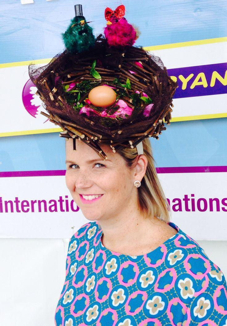 Nest hat by Emily O'Regan Millinery.