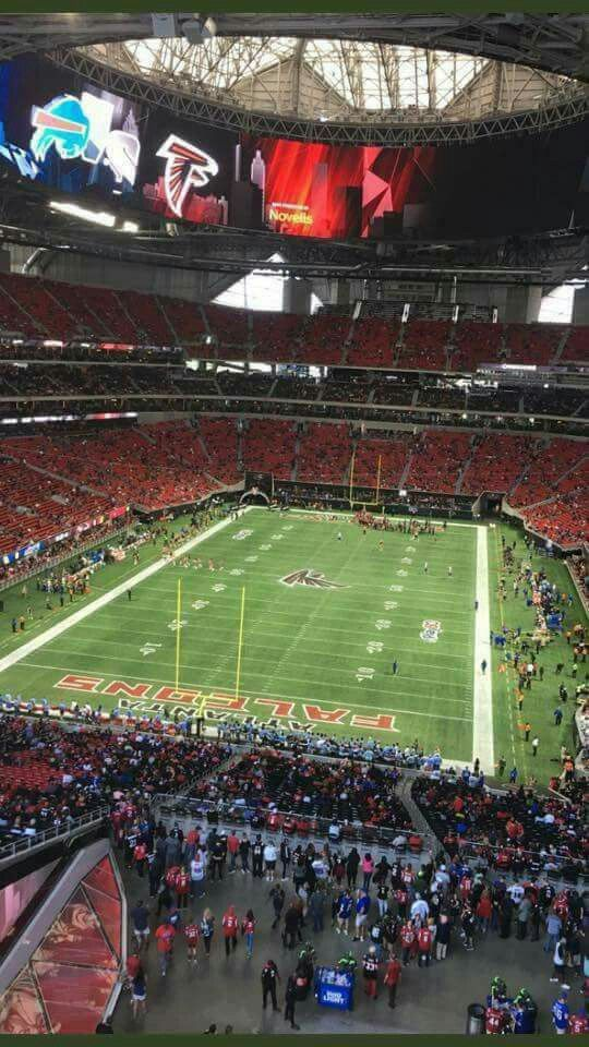Mercedes - Benz Stadium.... today's game 10-1-17. Atlanta vs Buffalo. Don't let mainstream media tell you it's not working! #nflboycott