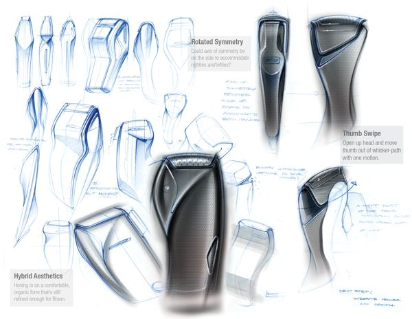Braun Electric Shaver by Ben Adams-Keane, via Behance #waxing…
