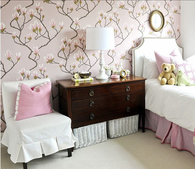 """Wallpaper Ideas. Floral Wallpaper. This Wallpaper Is The """"Magnolia Wallpaper By Cole & Son"""""""