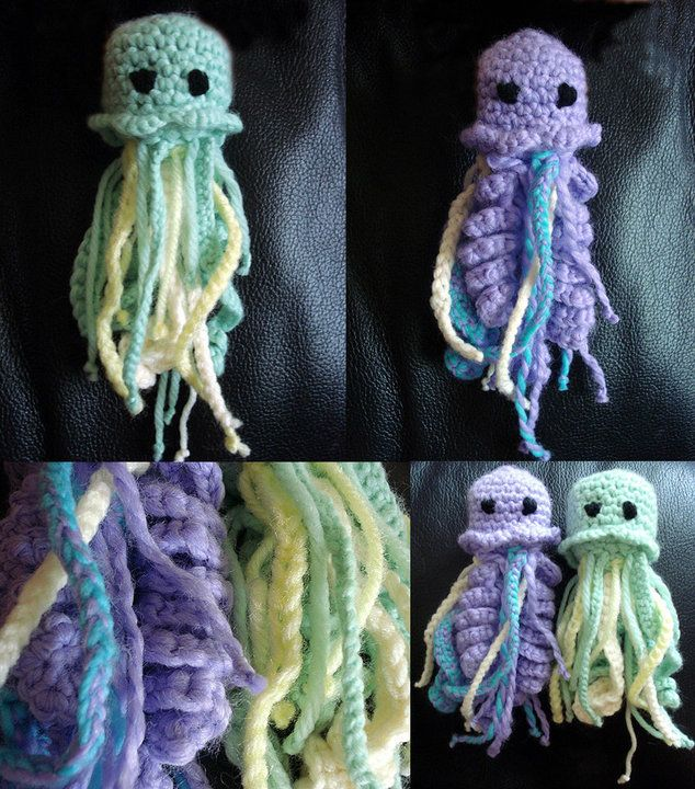 Jellyfish Amigurumi Tutorial : 17 Best images about Taking on the jellys!! on Pinterest ...