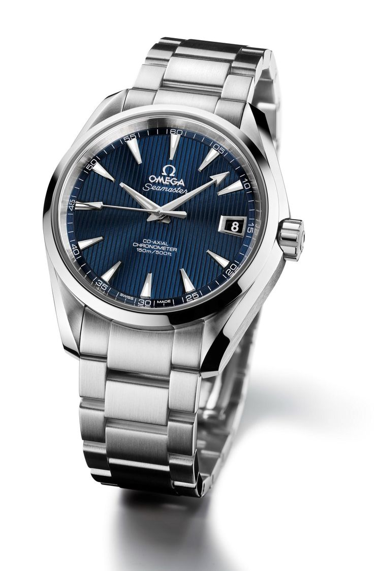 Omega Seamaster Aqua Terra 150M Blue Dial mine has pin stripe face. Love my watch