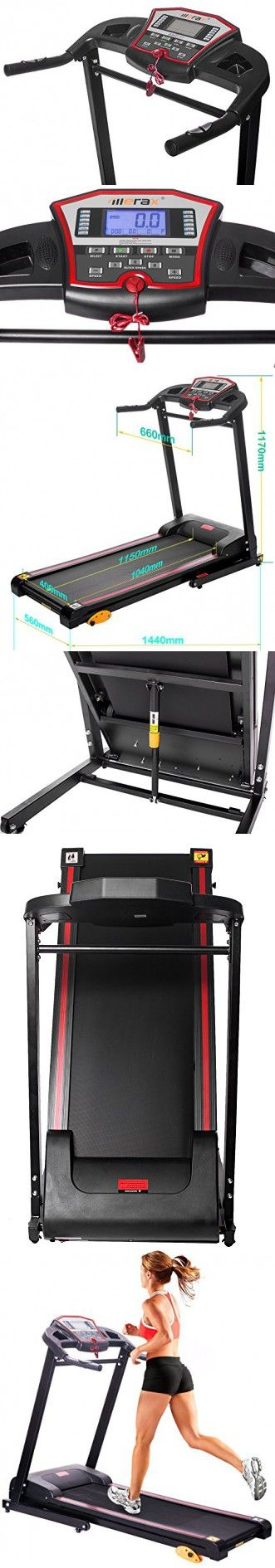 Merax 1.5HP Folding Electric Treadmill Motorized Running Machine (Black)