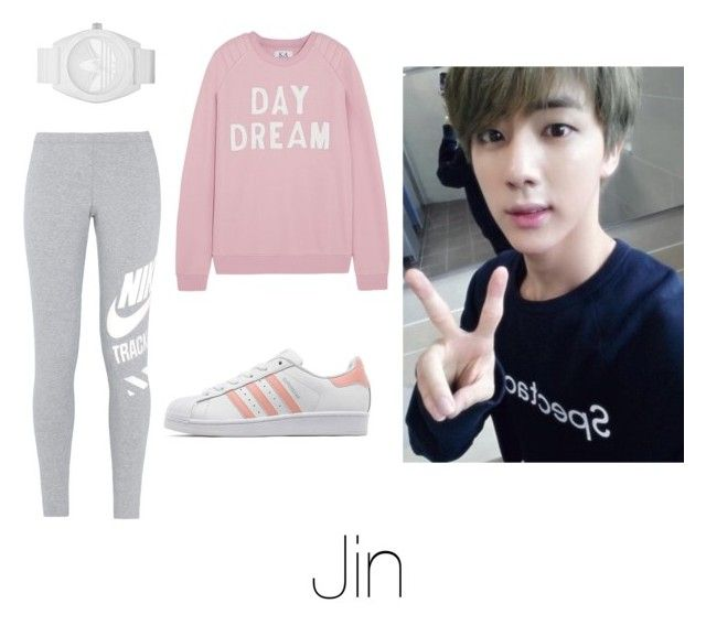 """""""Dance Practice with Jin"""" by btsoutfits ❤ liked on Polyvore featuring Zoe Karssen, NIKE, adidas, adidas Originals, women's clothing, women, female, woman, misses and juniors"""