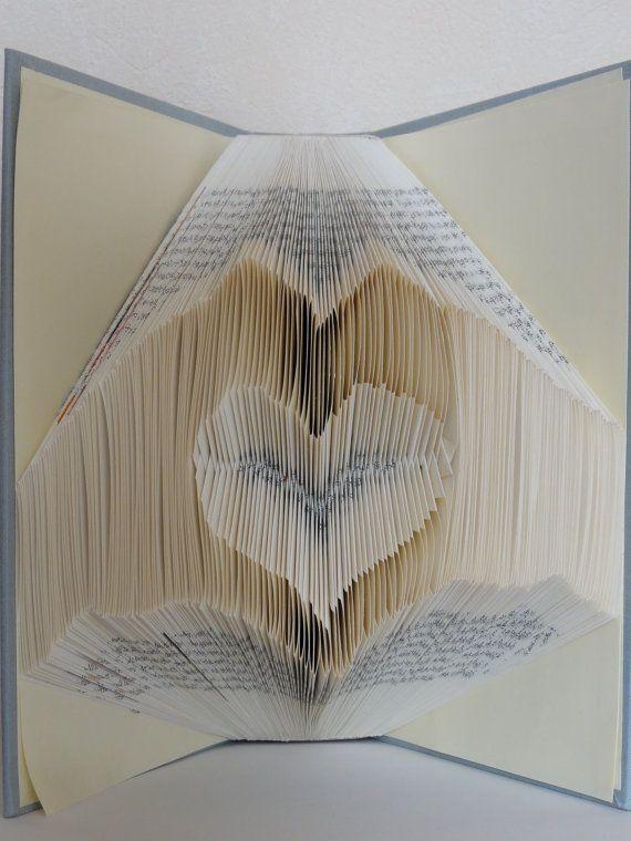 Folded Book Art - Heart Hands - Unique present