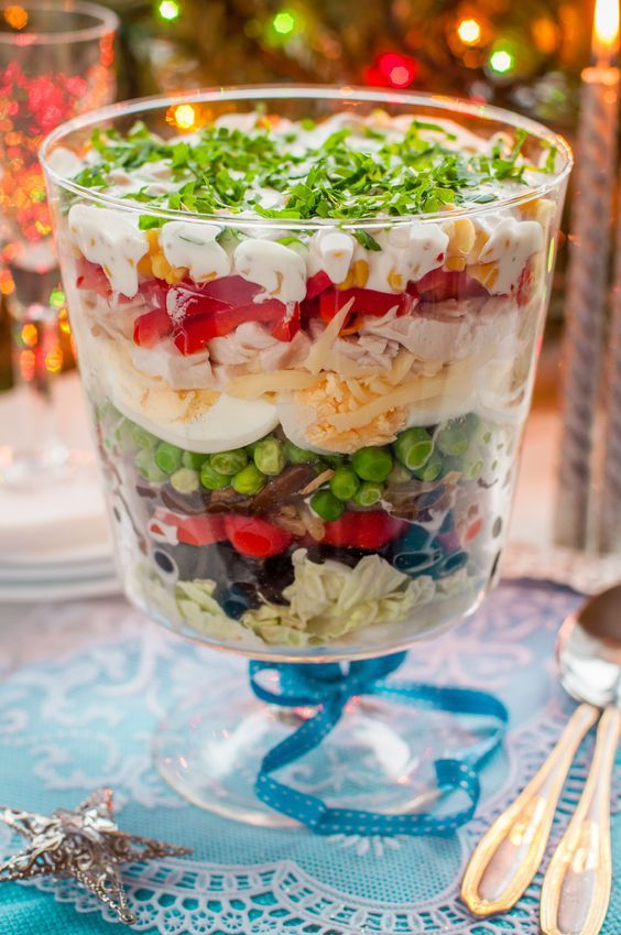 Christmas Layered Salad From: blessedbeyondcrazy.com