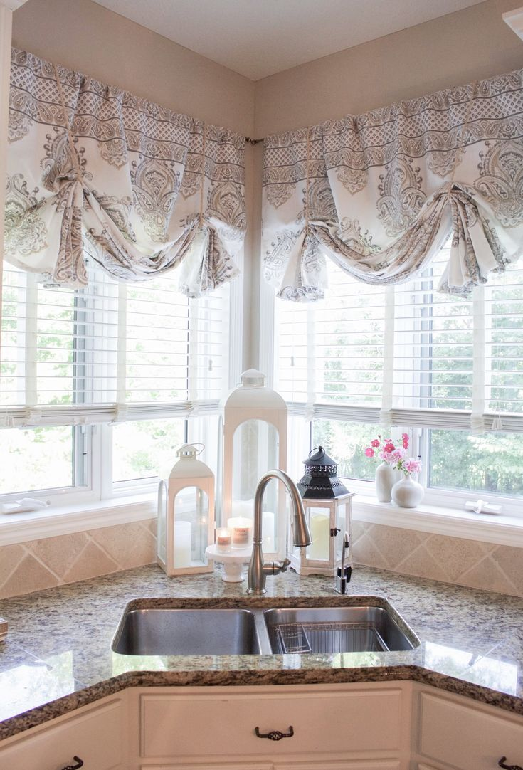 How To Make No Sew Curtain Valances Farmhouse Kitchen