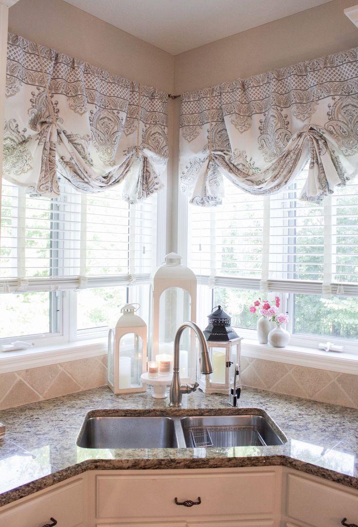 how to make no sew curtain valances farmhouse kitchen curtains no sew curtains valance curtains on farmhouse kitchen curtains id=18946