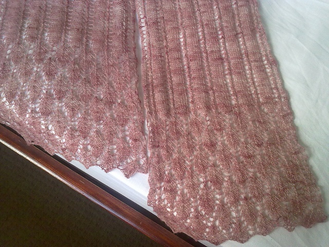 Summer Night - A gorgeous cashmere scarf knitted for my fiance's step-mum on her 60th birthday.