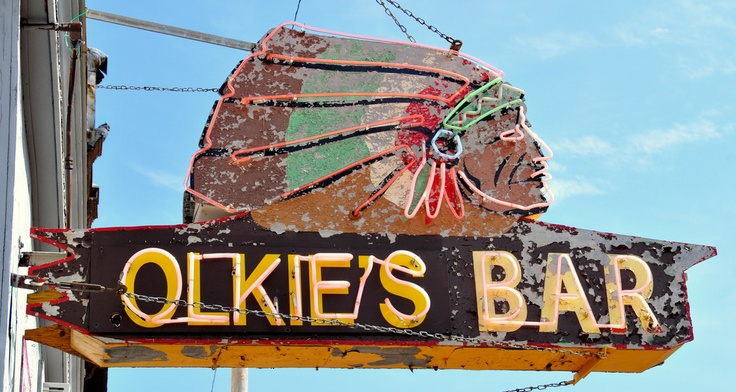 Neon Indian.: Neon Indian, Neon Signs, Cowboys, Vintage Signs, Civil Signage, Olki Bar, Bar Neon, Motel Signs, Olkie Bar