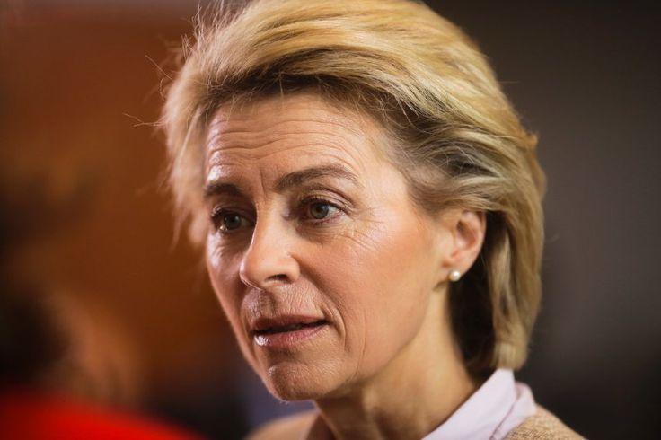 Defense Minister Ursula von der Leyen   of the center-right Christian...