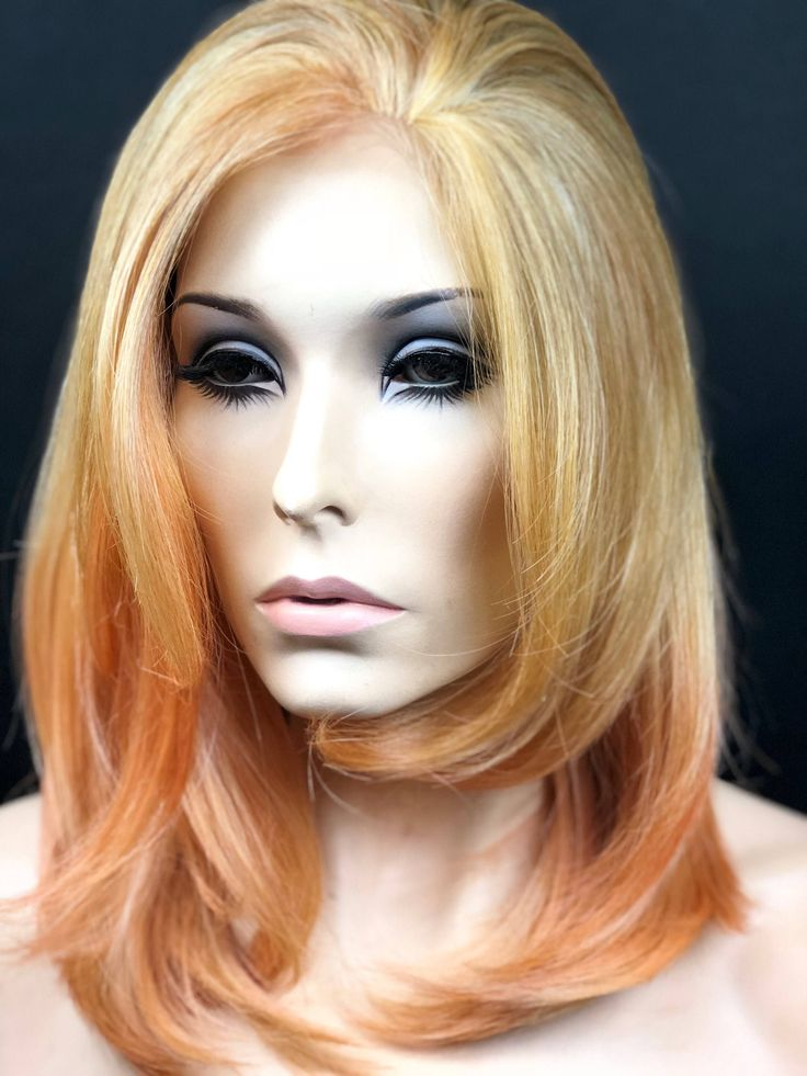 Excited to share the latest addition to my #etsy shop: Rose Gold Wig, Ombre Pastel Pink Wig, Pink Wig, Human Hair Blend Lace Front Wig, Heat Friendly Lace Wig