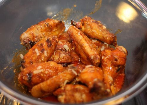 Grilled Garlic and Parmesan Hot Wings