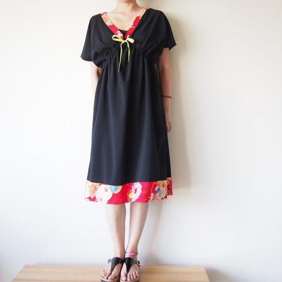OKINAWA DRESS -ビンテージの着物地を使ったドレス