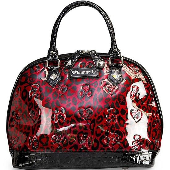 Leopard Skull Patent Embossed Bag by Loungefly (Red/Black) #InkedShop #purse #bag #accessories #style #fashion #Leopard