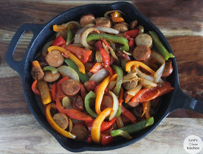Sausage, Peppers, and Onion Pot | Lexiscleankitchen.com gluten free / g free / gf / wheat free / dairy free / paleo
