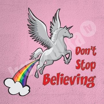 Koszulka.tv - Śmieszne koszulki z nadrukiem » Dont stop believing