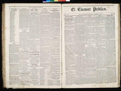 El Clamor Publico, vol. IV, no. 41, Abril 9 de 1859 :: El Clamor Publico Collection, 1855-1859