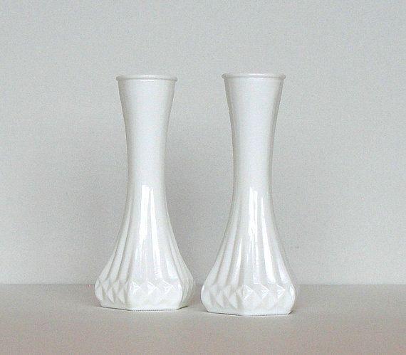 Vintage Milk Glass Vase 5 Inch Fluted Urn Design White 11