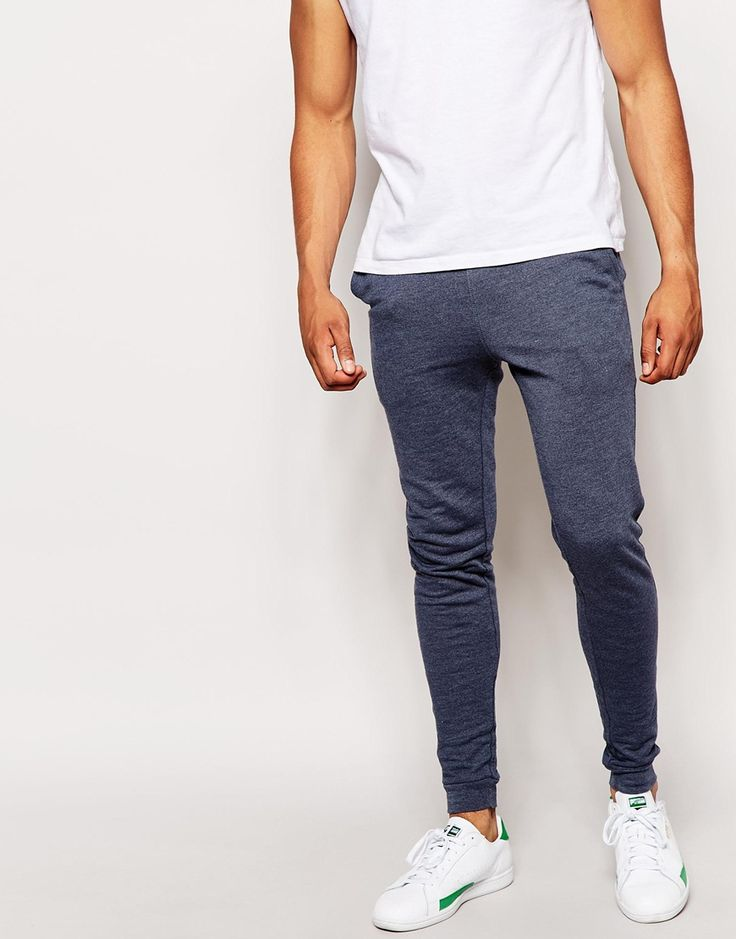 "Joggers by ASOS Loop-back sweat Drawstring waistband Side slant pockets Ribbed cuffs Super skinny fit - cut closely to the body Machine wash 63% Cotton, 37% Polyester Our model wears a 32""/81cm regular and is 185.5cm/6'1"" tall"