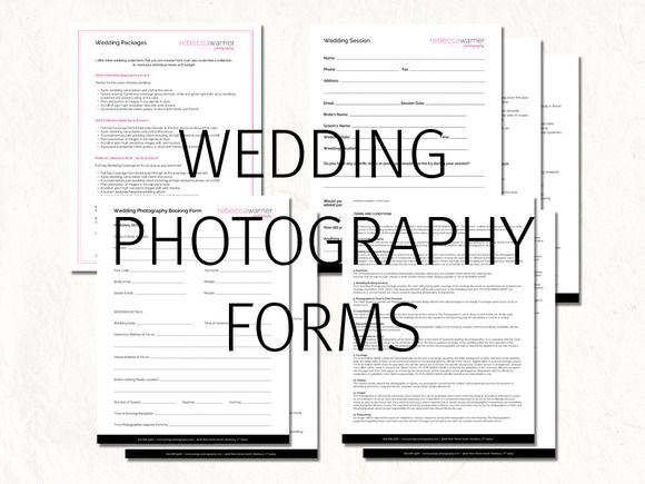 Check out Wedding photography contract forms by Joanne Marie on Creative Market