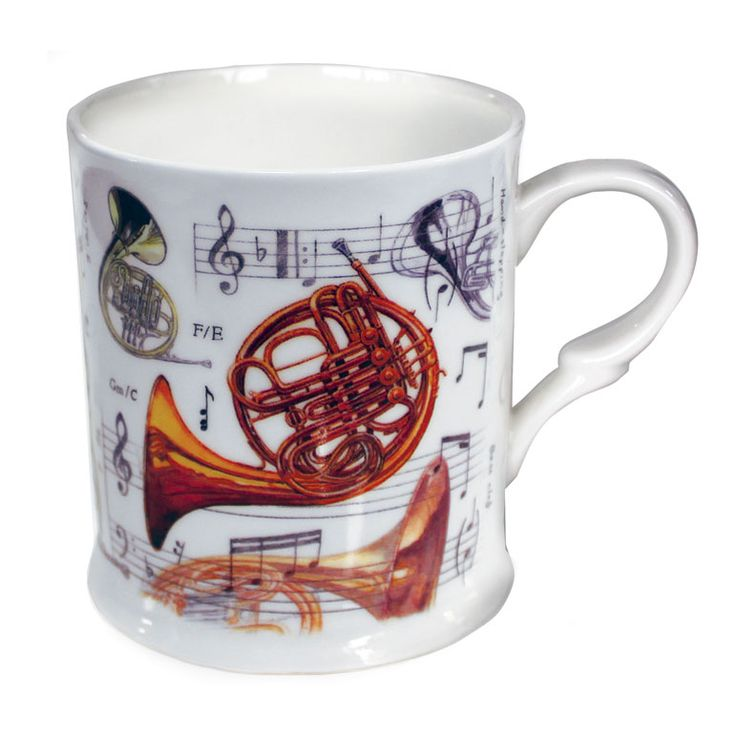 Bone China Mug: French Horn. £8.99