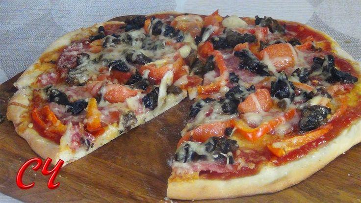 Быстрое Тесто для Пиццы и Великолепная Пицца!!! /Fast Pizza Dough and Go...