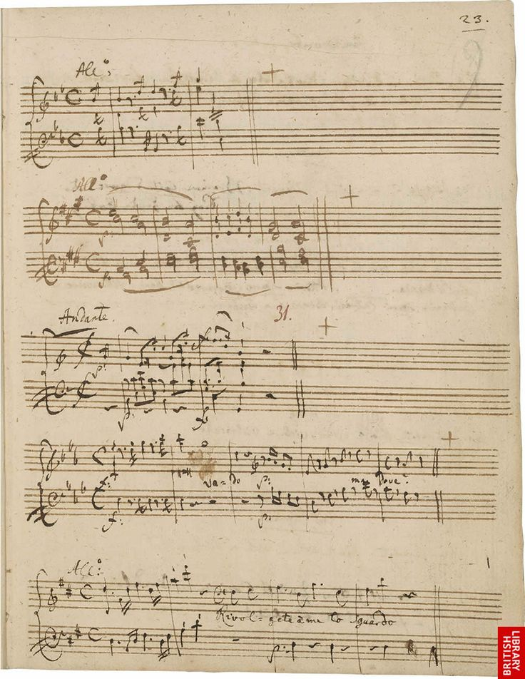Mozart handwritten music - Composers: write all of your music by hand and NOT by computer! #composers #modernmusic